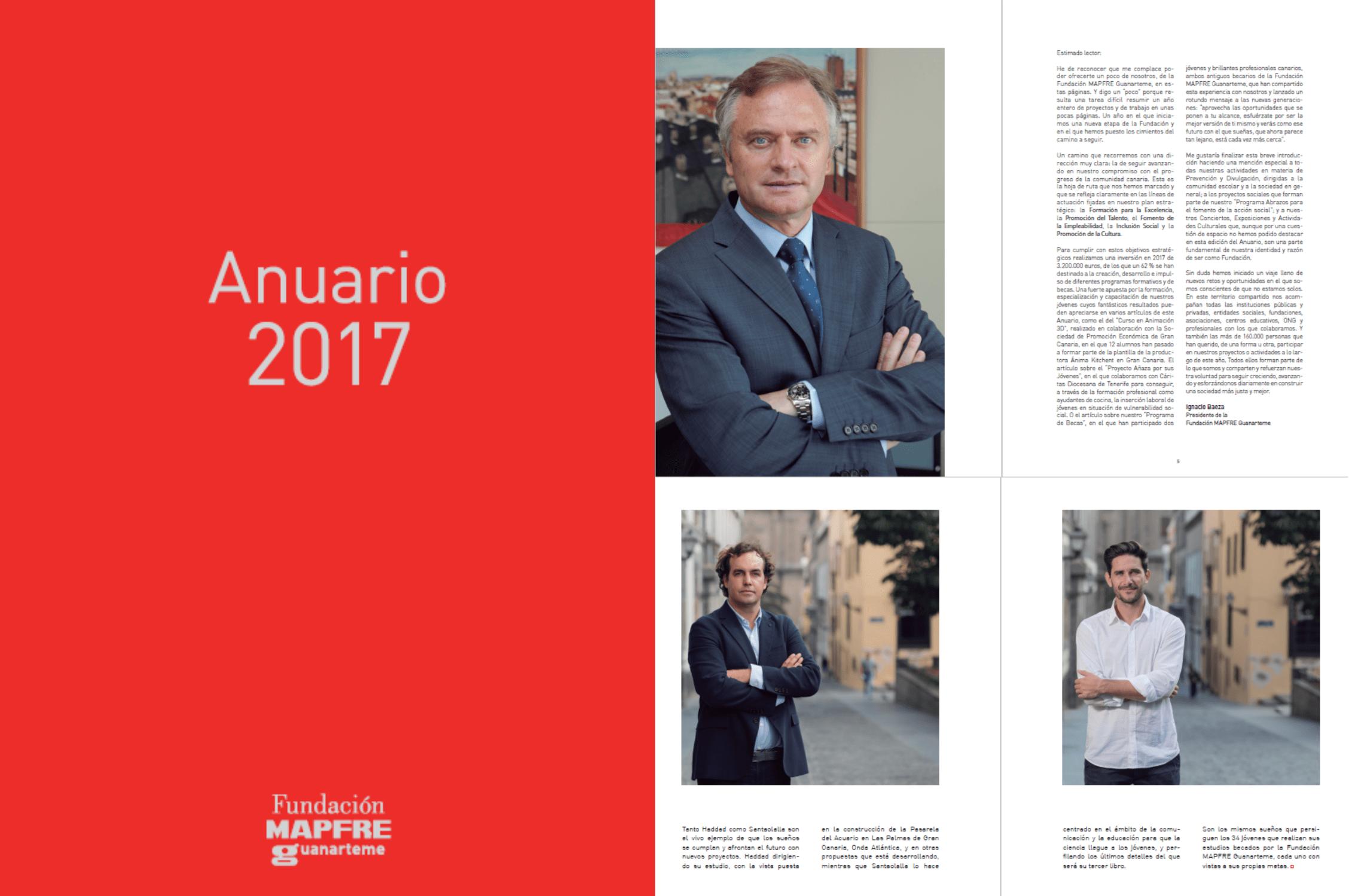 Elaboramos el Anuario 2017 de la Fundación MAPFRE Guanarteme, este año por primera vez en formato digital
