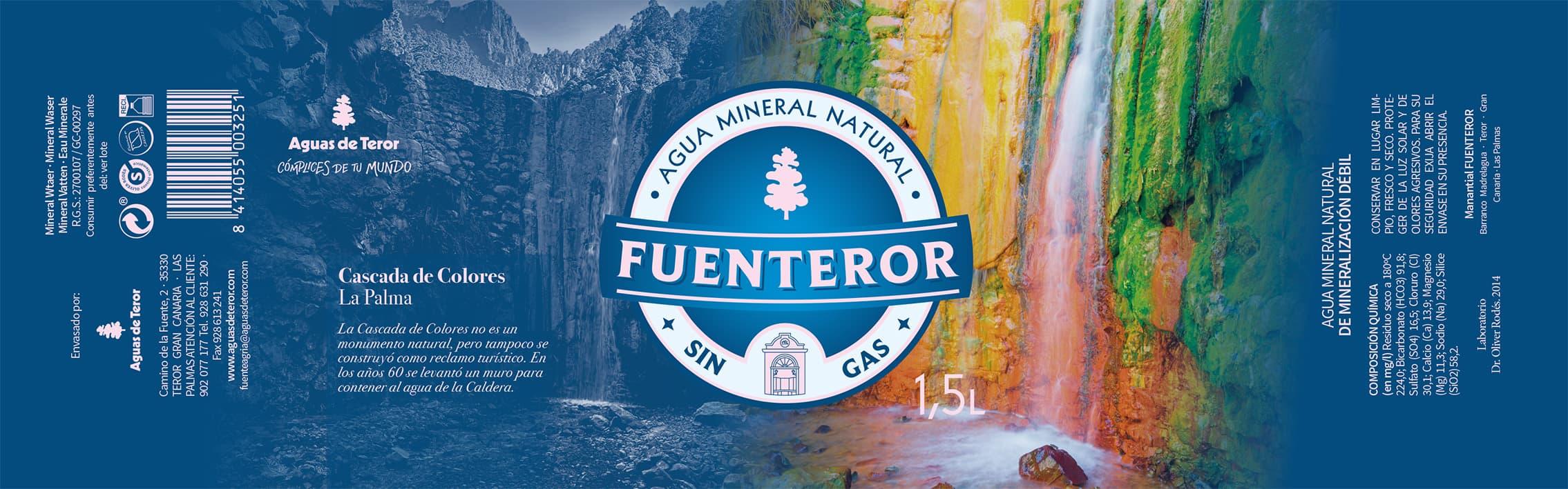 Mostramos la belleza de nuestras islas con un etiquetado especial para Aguas de Teror por el Día de Canarias