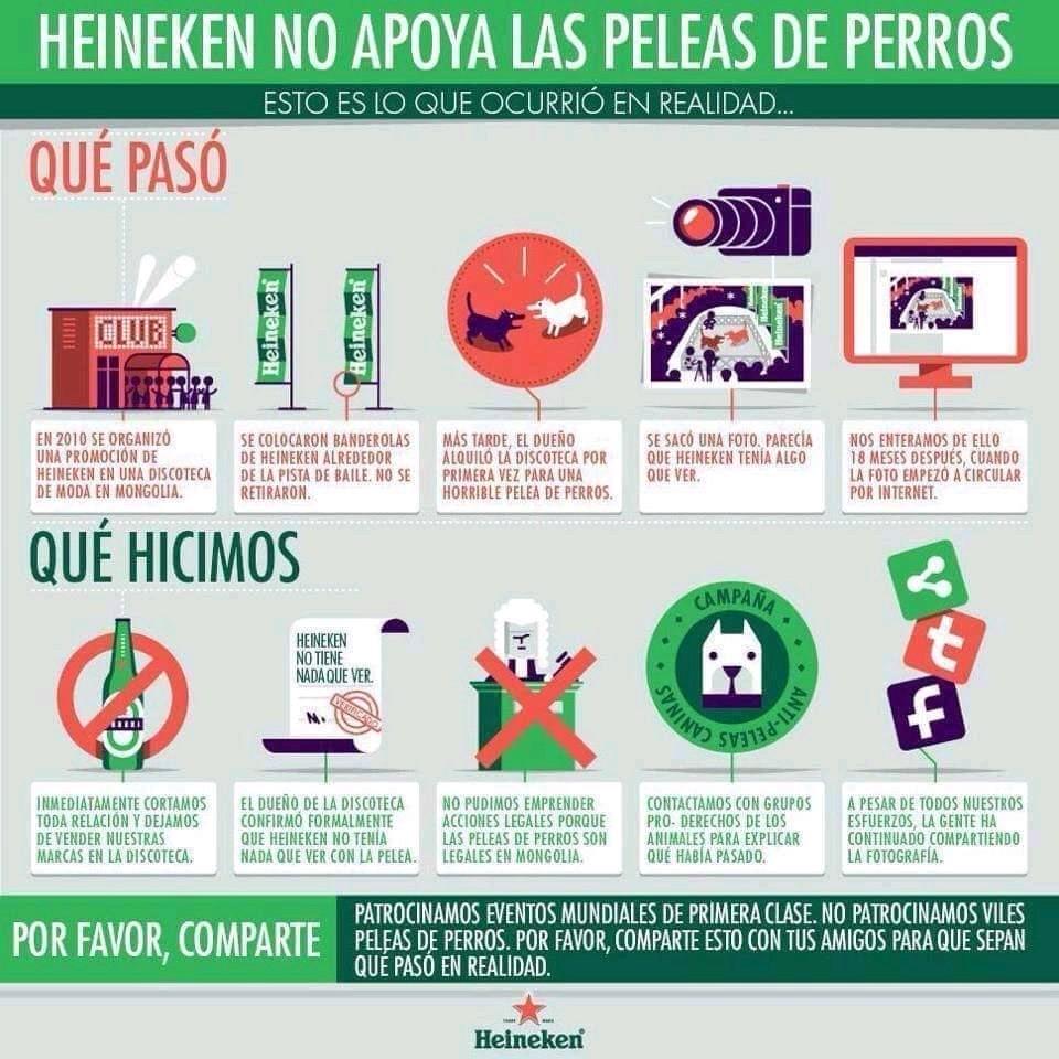 De Heineken, crisis de reputación y fake news…