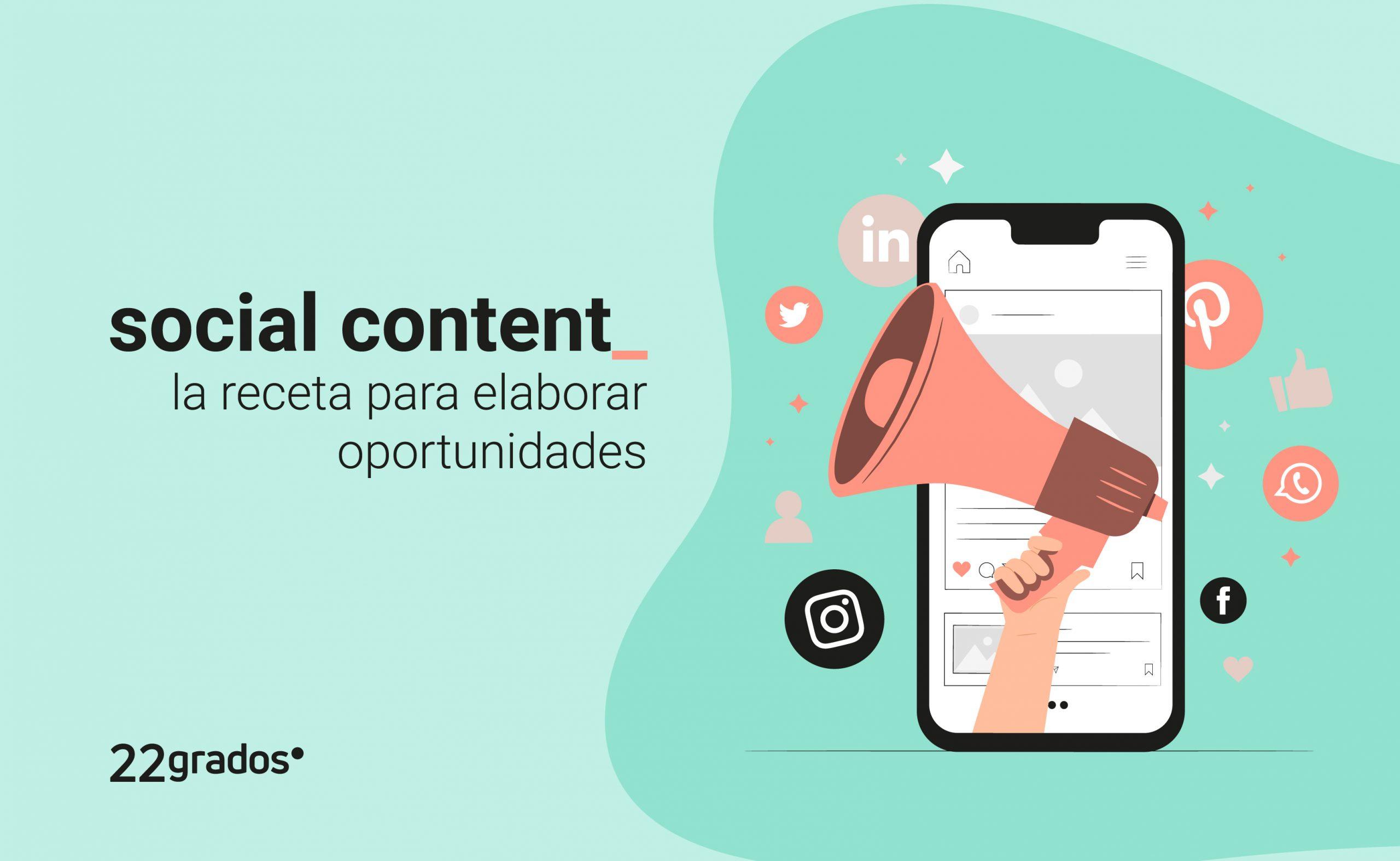 Social Content: La receta para elaborar oportunidades