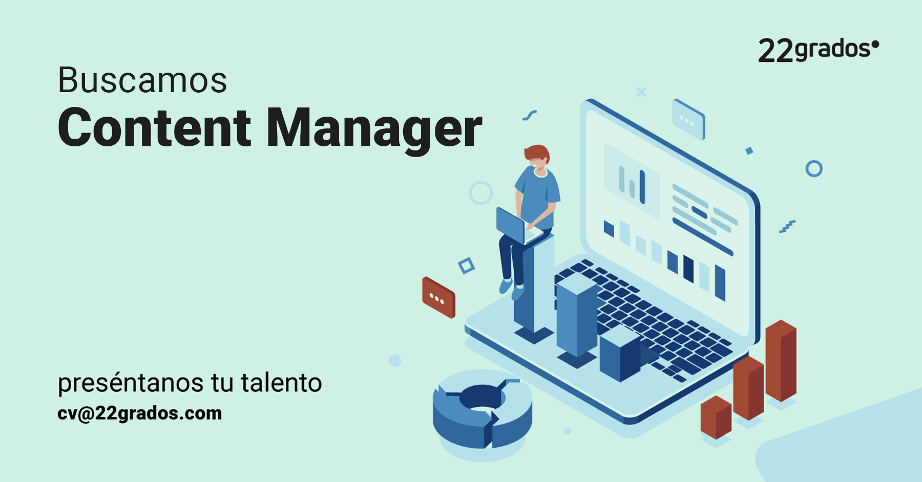 <b>Buscamos Content Manager</b> <br>( gestor de contenidos)