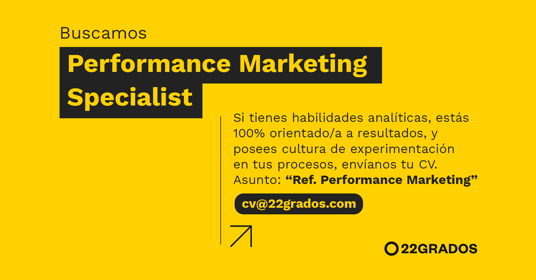 Buscamos Performance Marketing Specialist