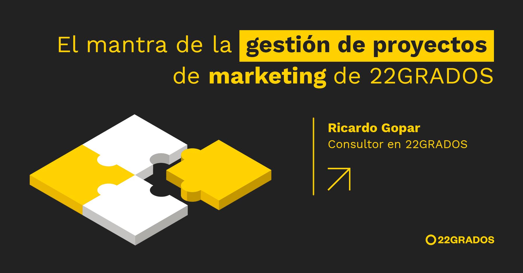 """""""El mantra de la gestión de proyectos de marketing de 22GRADOS"""""""